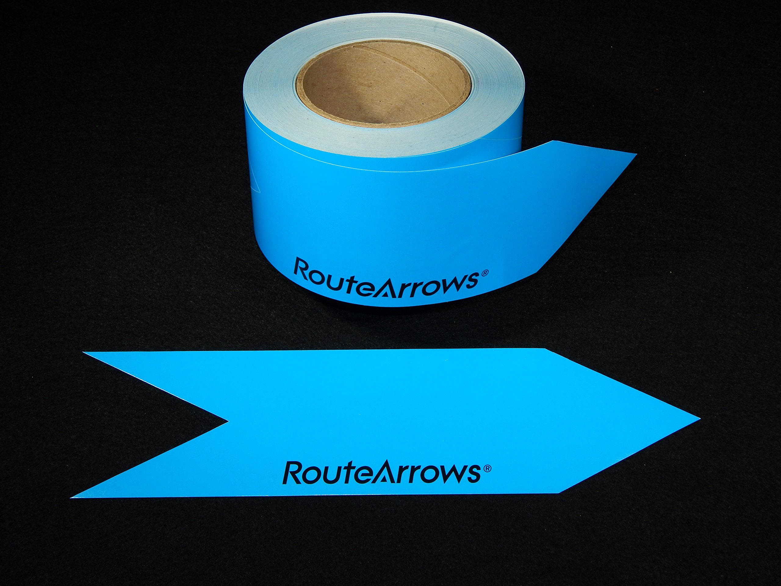Blue RouteArrows - Colorful, Biodegradable Route Marking Stickers