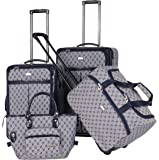 American Flyer Luggage Signature 4 Piece Set, Navy, One Size