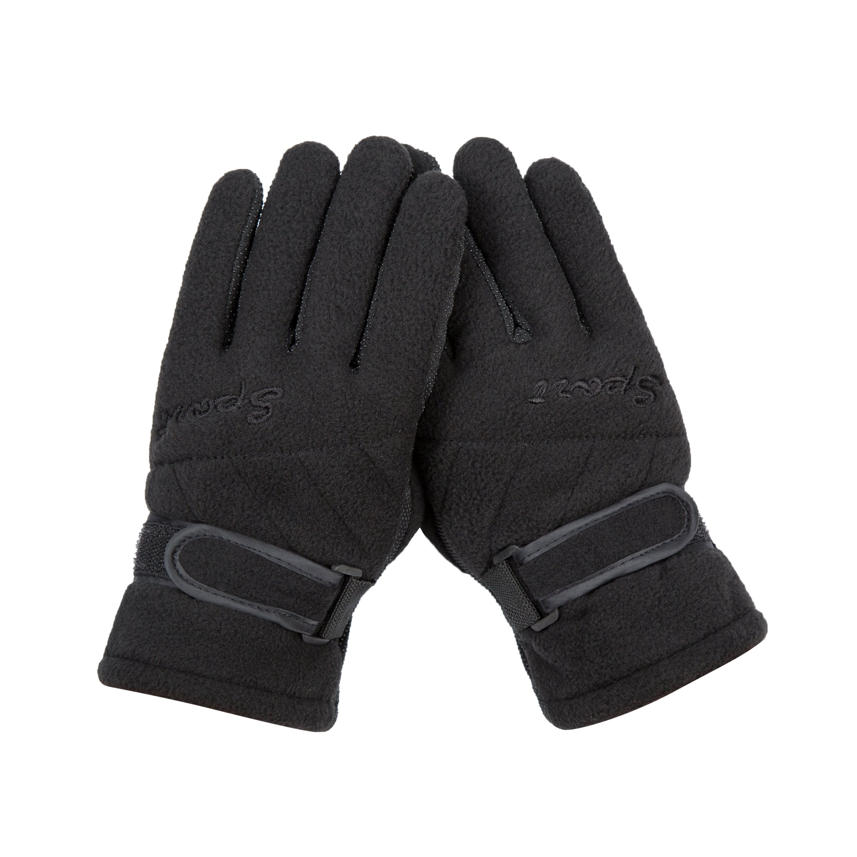 Black Boy girls Women Winter Gloves Anti Slip Fleece Lining For Hiding Snowboard Driving Ski
