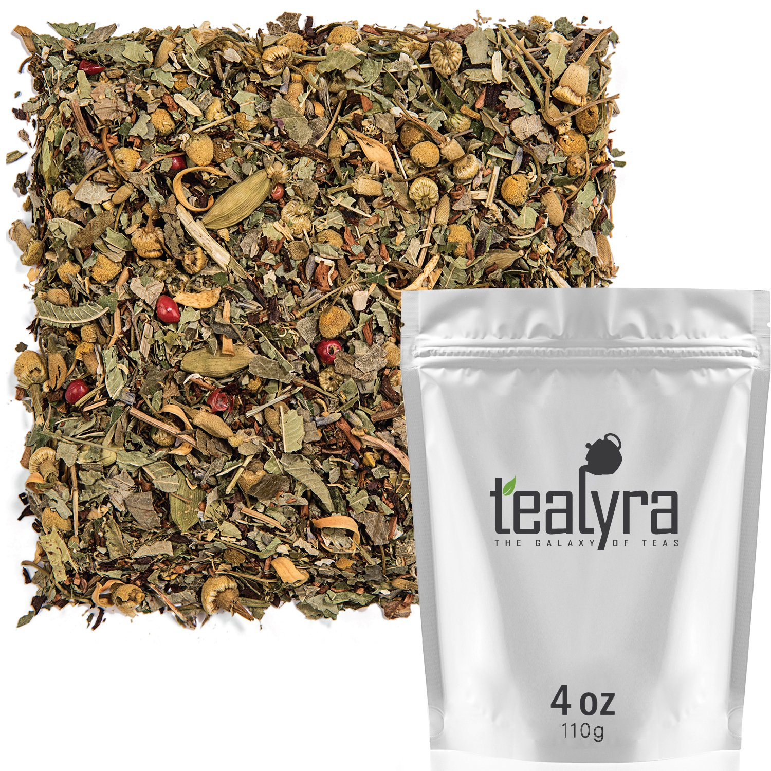 Tealyra - Tranquil Dream - Chamomile Honeybush Lavender - Calming - Relaxing - Herbal Loose Leaf Tea - Caffeine-Free - All Natural - 110g (4-ounce)