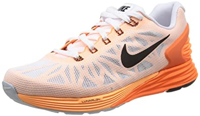 870d8d70bc42 ... uk nike lunarglide 6 womens running shoes white white black ttl orange  adf21 d8687