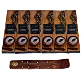 NAQSH Premium Hand Rolled Incense- Cool Camphor 6x20 Incense Sticks with Free Wooden Burner