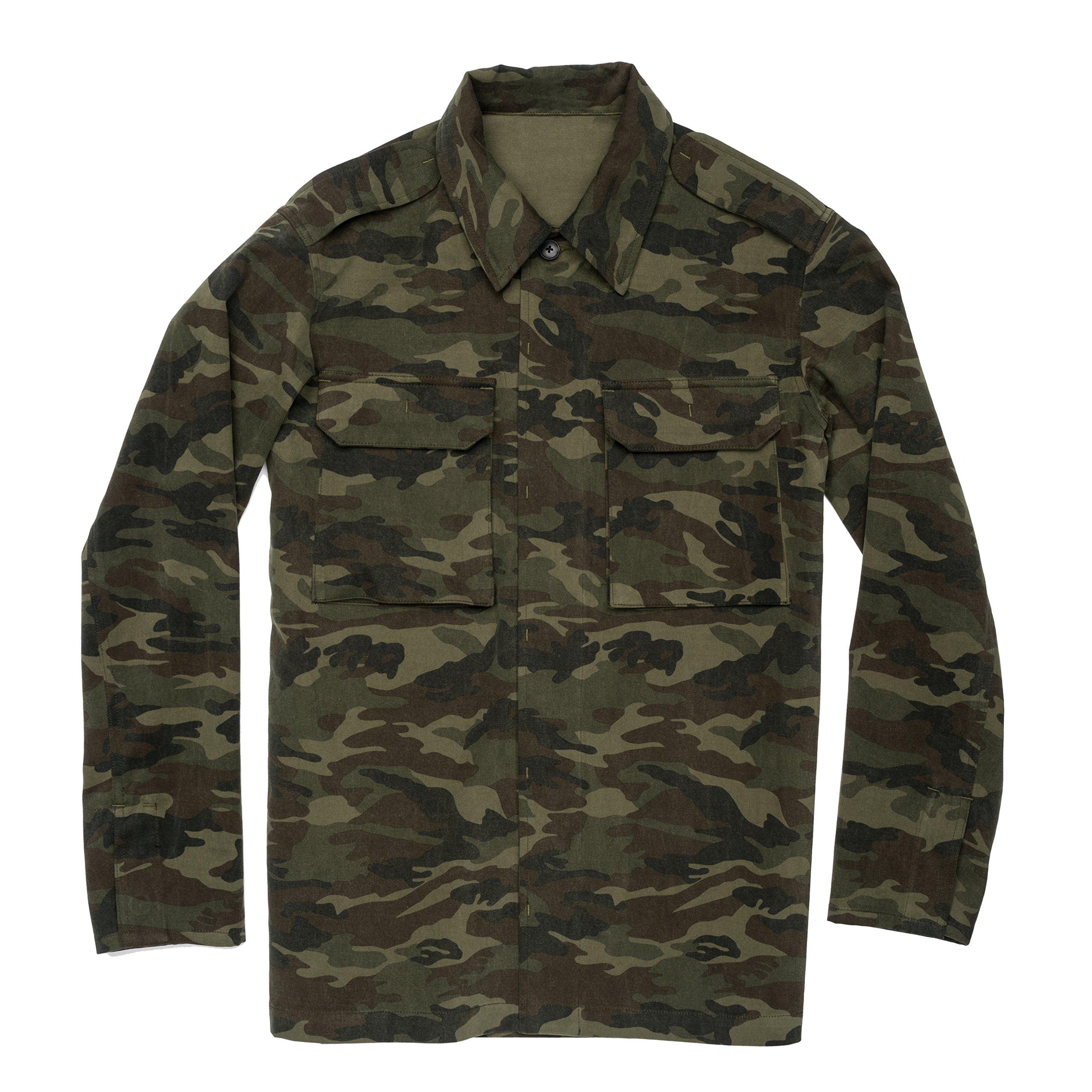 UNIFORM Tl Mens Military Jacket Camo Large