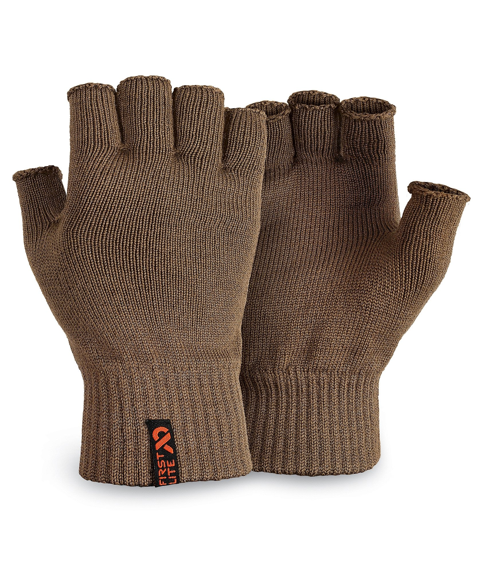 First Lite - Talus Merino Fingerless Glove in Dry Earth LG - Dry Earth by First Lite