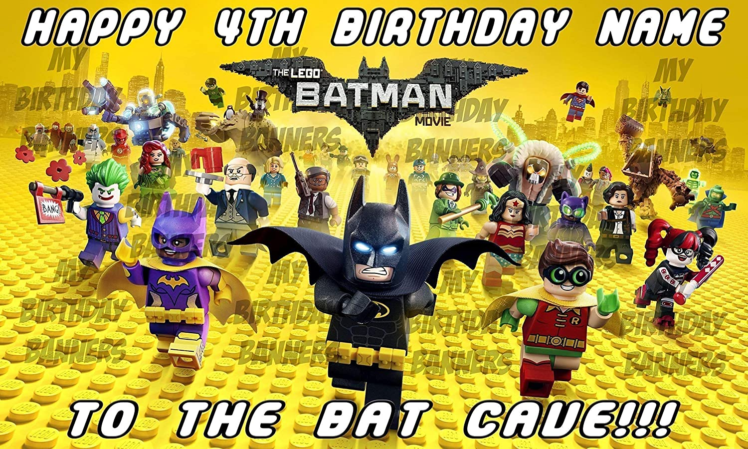 Personalized Birthday Banner for Lego Batman Theme Party