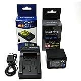 SIXOCTAVE VW-VBT380-K 互換 バッテリー & USB 充電器 VW-BC10-K セット パナソニック HC-V550M HC-V620M HC-V720M HC-V750M HC-VX980M HC-W570M HC-W580M HC-W850M HC-W870M HC-WX970M HC-WX990M HC-WXF990M HC-WX995M HC-VX985M 等