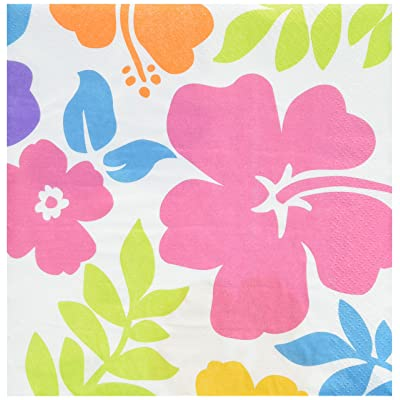 "Amscan Hibiscus Party Luncheon Napkins, 6.5"", 100 Ct.: Toys & Games"