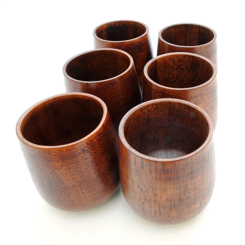 2 unit/és dekorationsbecher dunkel 150 ml sobre Holz avec gobelet en bois /écologique design holztassen couleur :  marron fonc/é-ganzoo Bois Holzbecher d/écoration-mug