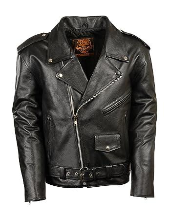 Amazon.com: Milwaukee Leather Boys' Basic Motorcycle Jacket (Youth ...