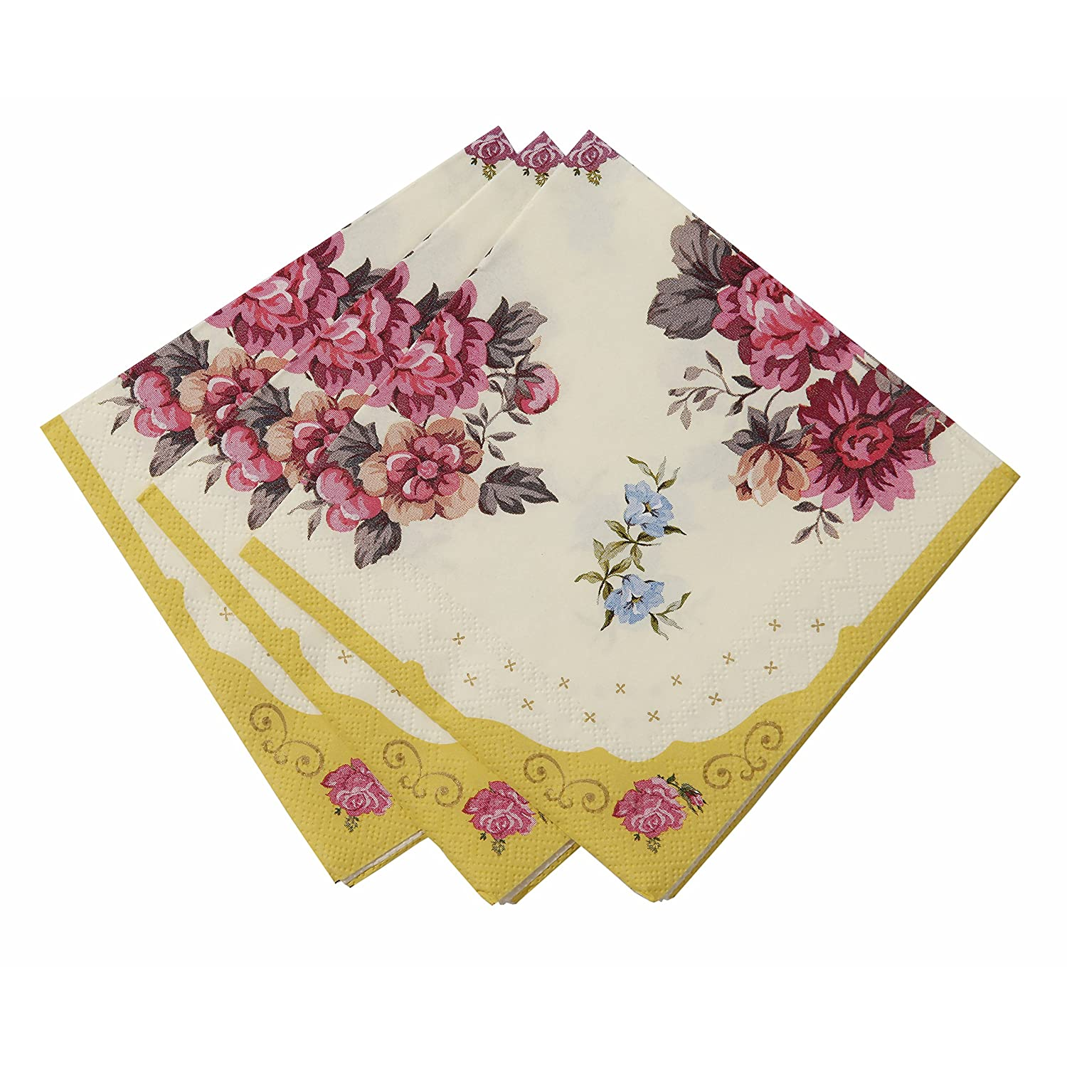 amazoncom talking tables truly scrumptious floral napkins for a tea party or birthday multicolor 30 pack home kitchen