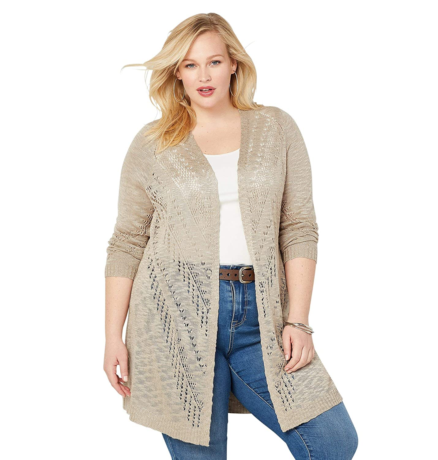 Avenue Womens Open Stitch Cardigan