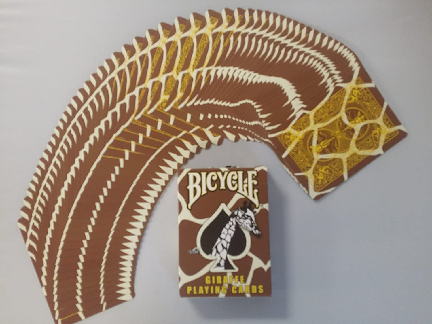Amazon.com: Bicycle Giraffe Deck Playing Cards – Brown ...