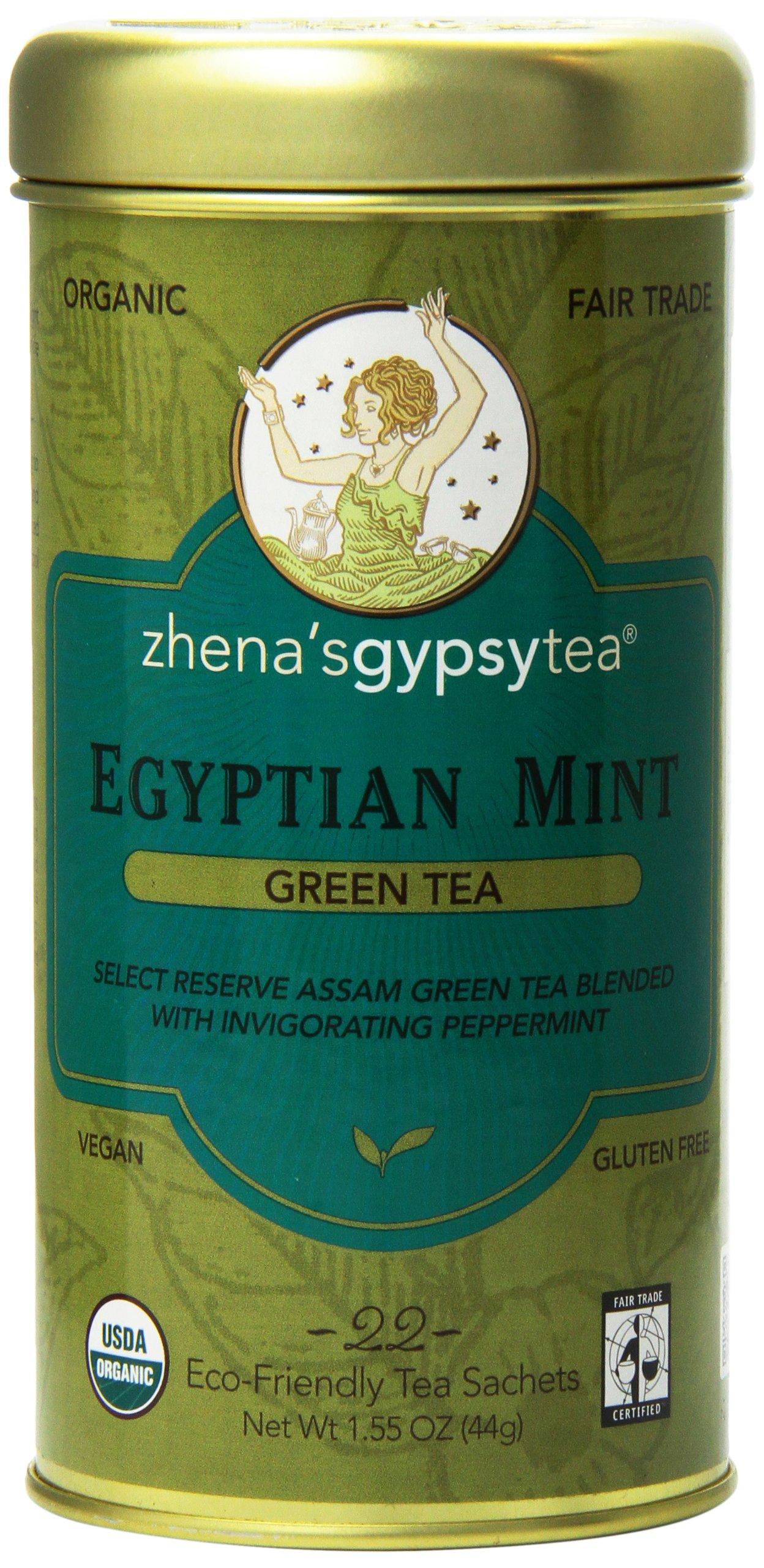 Zhena's Gypsy Tea, Egyptian Mint, 22 Count Tea Sachets