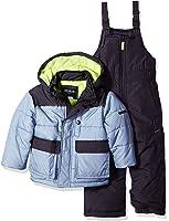 554d61ebd3c7 Osh Kosh Baby Boys Ski Jacket and Snowbib Snowsuit Set  Amazon.in ...