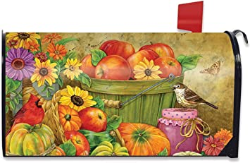 Autumn Arrangement Floral Mailbox Cover Fall Pumpkins Standard Briarwood Lane