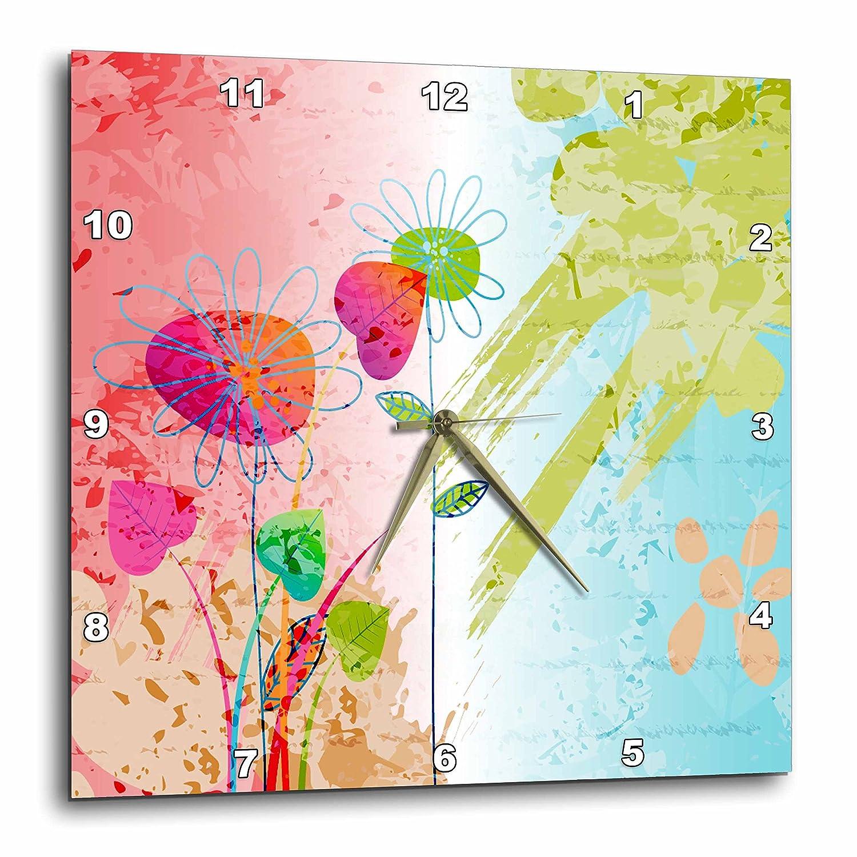 3dRose Patricia Sanders Creations Heart of Love Zebra Print dpp/_26125/_1 10x10 Wall Clock