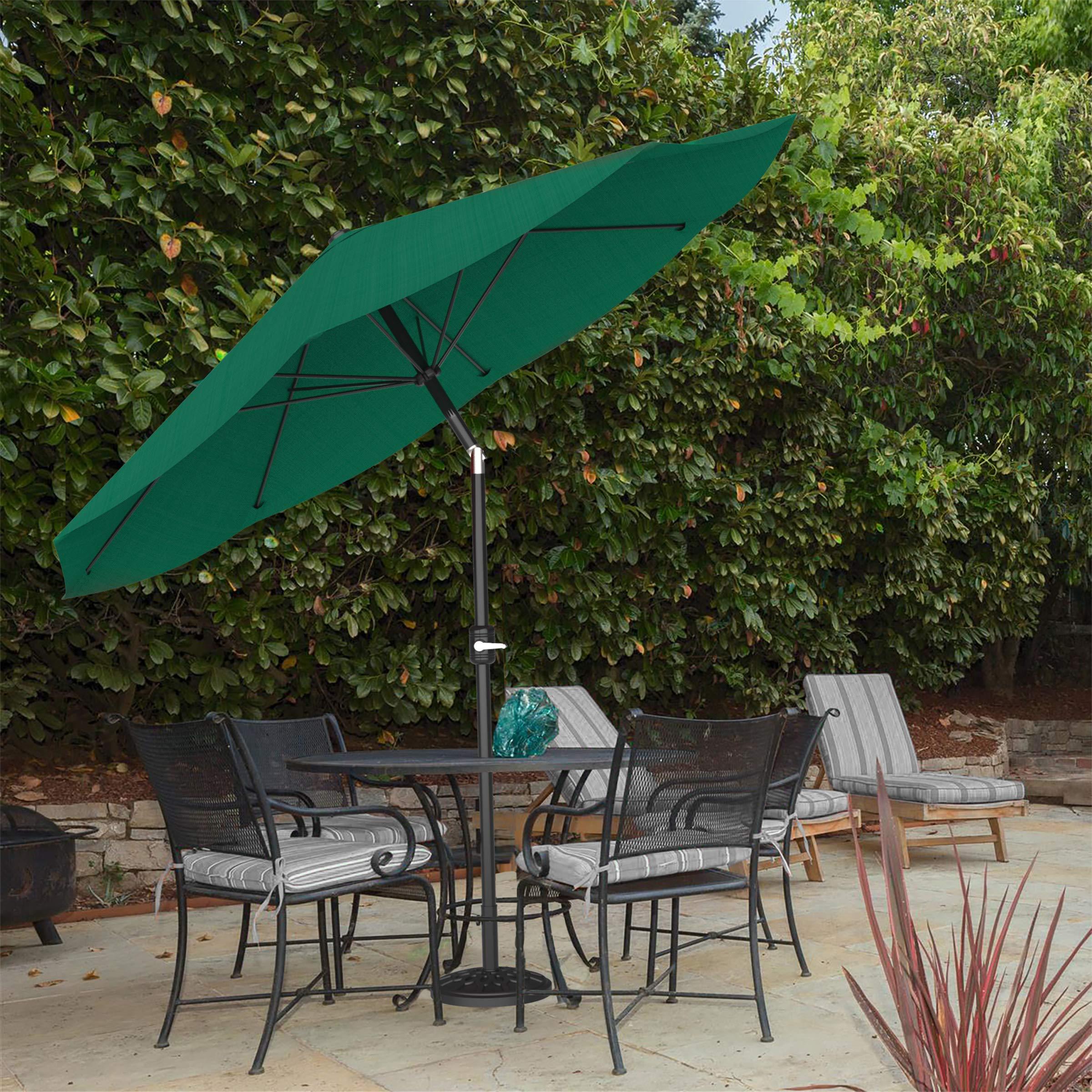 Pure Garden 50-LG1034 Patio Umbrella Auto Tilt, 10', Hunter Green