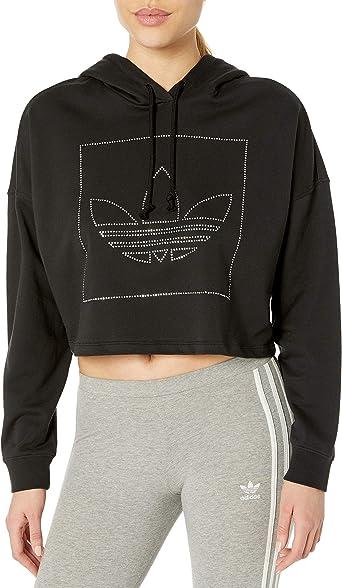 Regresa disparar Omitido  Amazon.com: adidas Originals Women's Crop Hoodie: Clothing