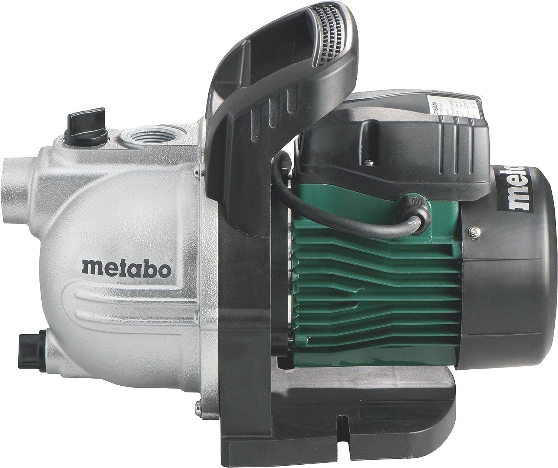 Metabo 600962000 600962000-Bomba de Agua para jardín P 2000 G 450W Altura máx. Bombeo 30 m, Negro, Verde, Plata
