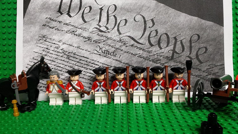 Amazon com: LEGO Revolutionary War era British Army Redcoats