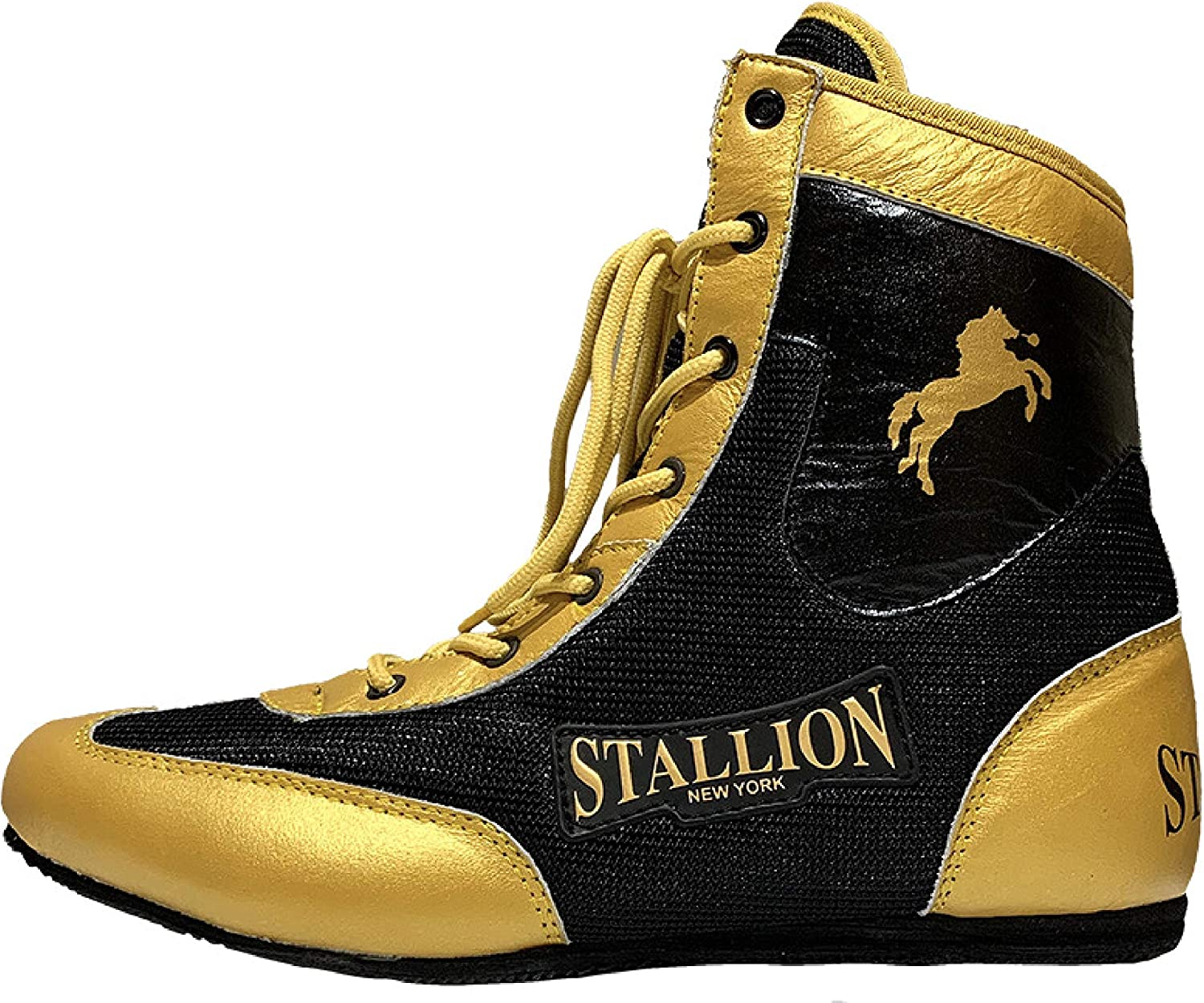 STALLION NEW YORK All Pro Boxing Gloves State-of-The-Art Quality Superior Lace Gloves for Sparring//Bag Classic Power Series Genuine Leather