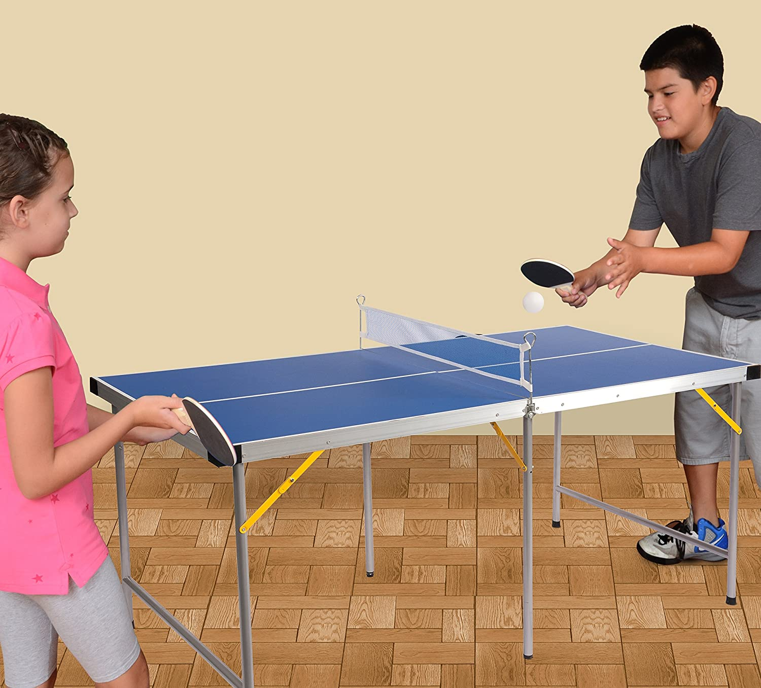 Amazon.com : Lion Sports Folding Portable Table Tennis Ping Pong Table, 5u0027  : Sports U0026 Outdoors