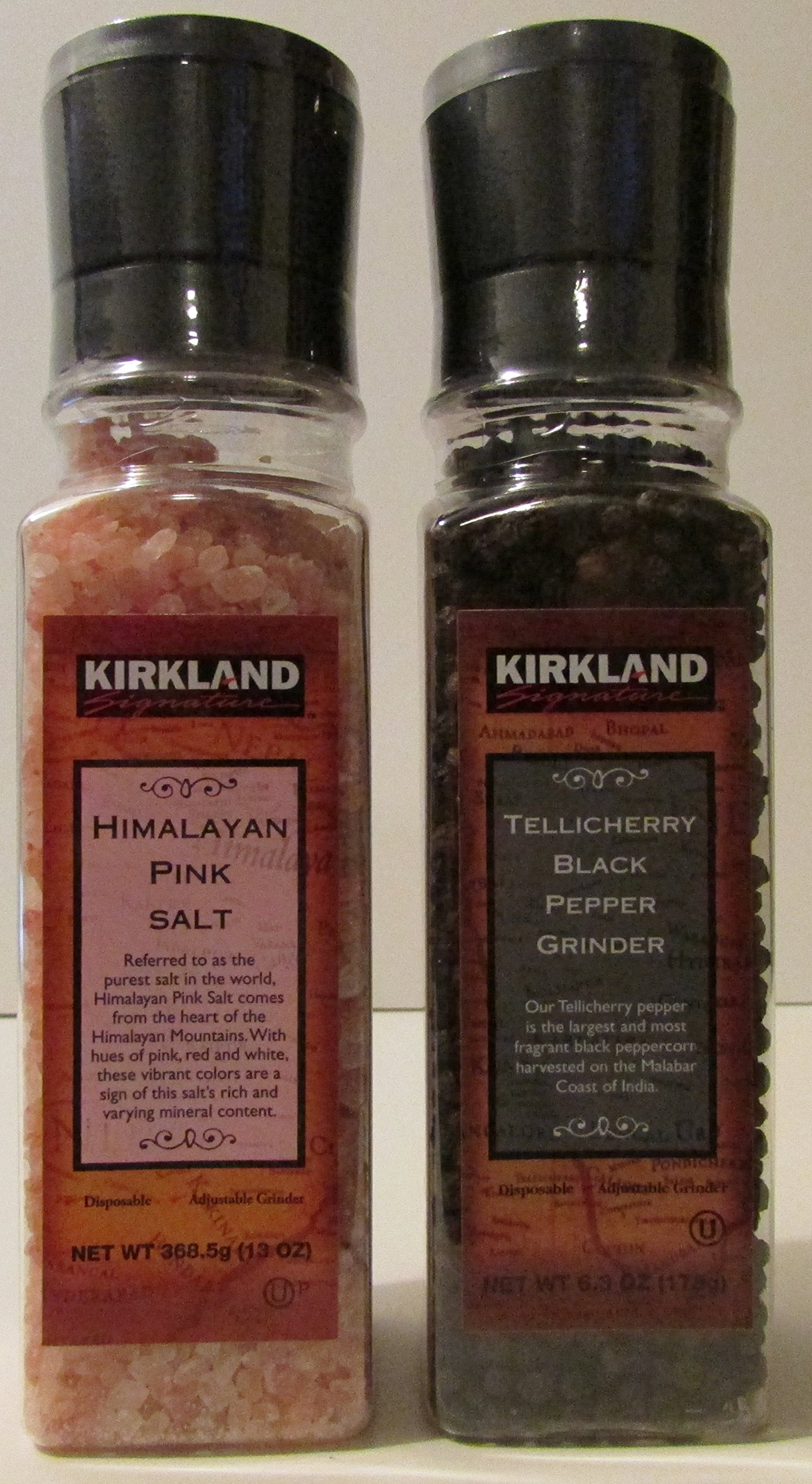 Kirkland Signature Himilayan Pink Salt and Tellicherry Black Pepper Combo Pack by Kirkland Signature (Image #1)