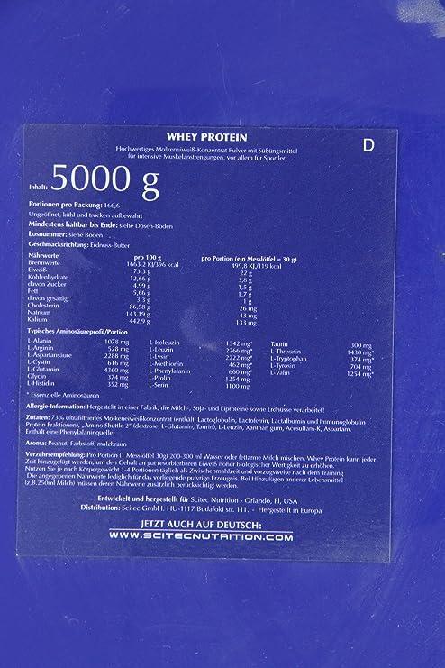 Scitec 100% Whey Protein Professional Proteínas de Suero - 5000 gr: Amazon.es: Alimentación y bebidas
