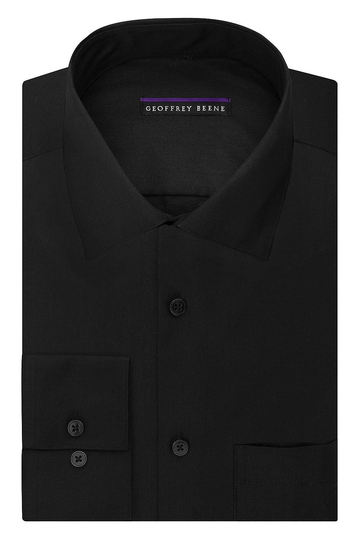 Geoffrey Beene Mens Point Collar Gdress Shirts Regular Fit Solid