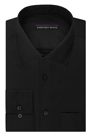 e8577ae271 Geoffrey Beene Men s Regular Fit Sateen Solid Dress Shirt at Amazon ...