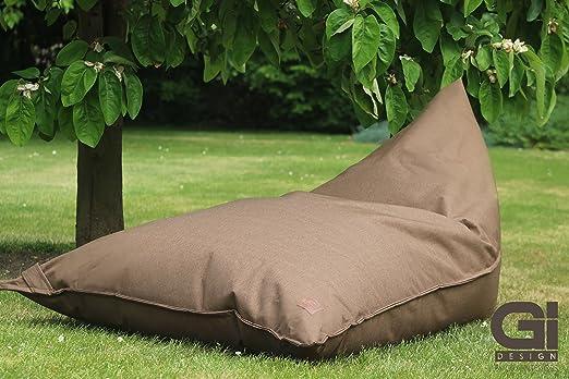 Puf XXL Grafinteriors, sillón relax chillout, producto de la marca GI Design, Fibra, pardo: Amazon.es: Jardín