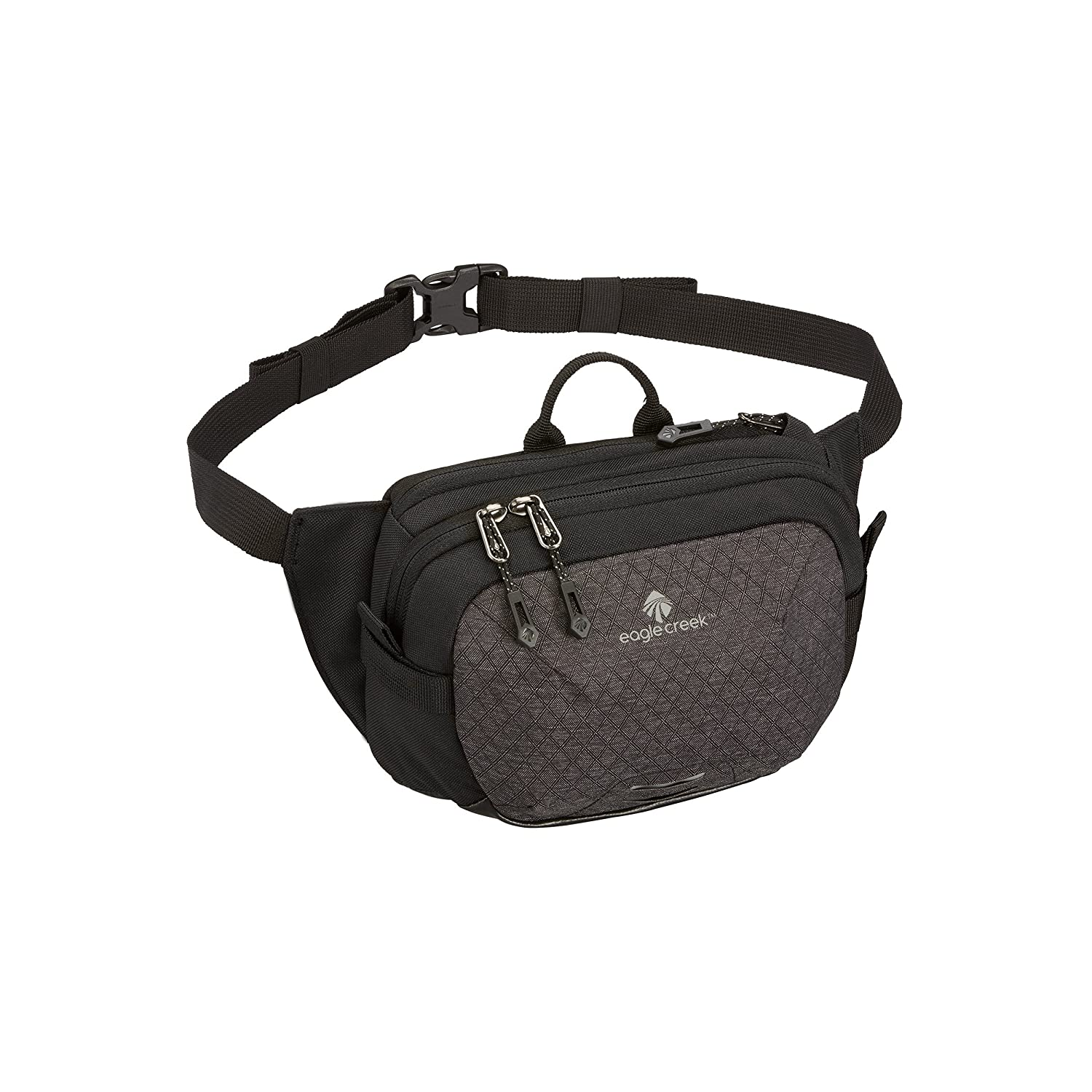 Eagle Creek Multiuse Fanny Travel Sport Waist Pack for E-Reader and Phone Black/Charcoal WAYFINDER WAIST PACK S