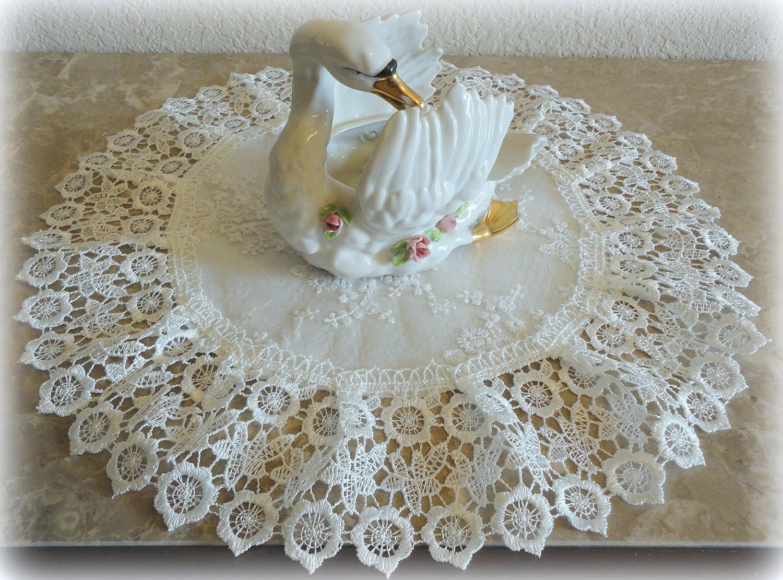 Galleria di Giovanni Doily Ivory Princess Lace European Dresser Table Scarf Topper