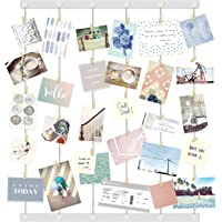 Umbra Hangup DIY Picture Frames Collage Set Includes Wire Twine Cords, Natural Wood Wall Mounts and Clothespin Clips for…
