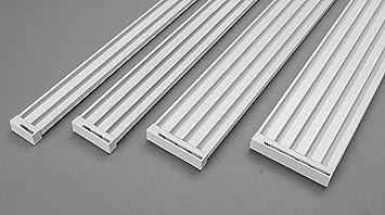 Gut gemocht Rollmayer glänzend Weiß Gardinenschiene ALU 2, 3, 4, 5-läufig XJ49