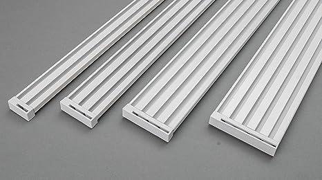 Gleiter mit Faltenleghaken weiss Gardinen Alu-Schienen Aluminium X