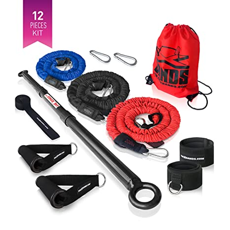 Extra fuerte Barra de ejercicio Fitness Gear por la X bandas – 3 piezas Barra de