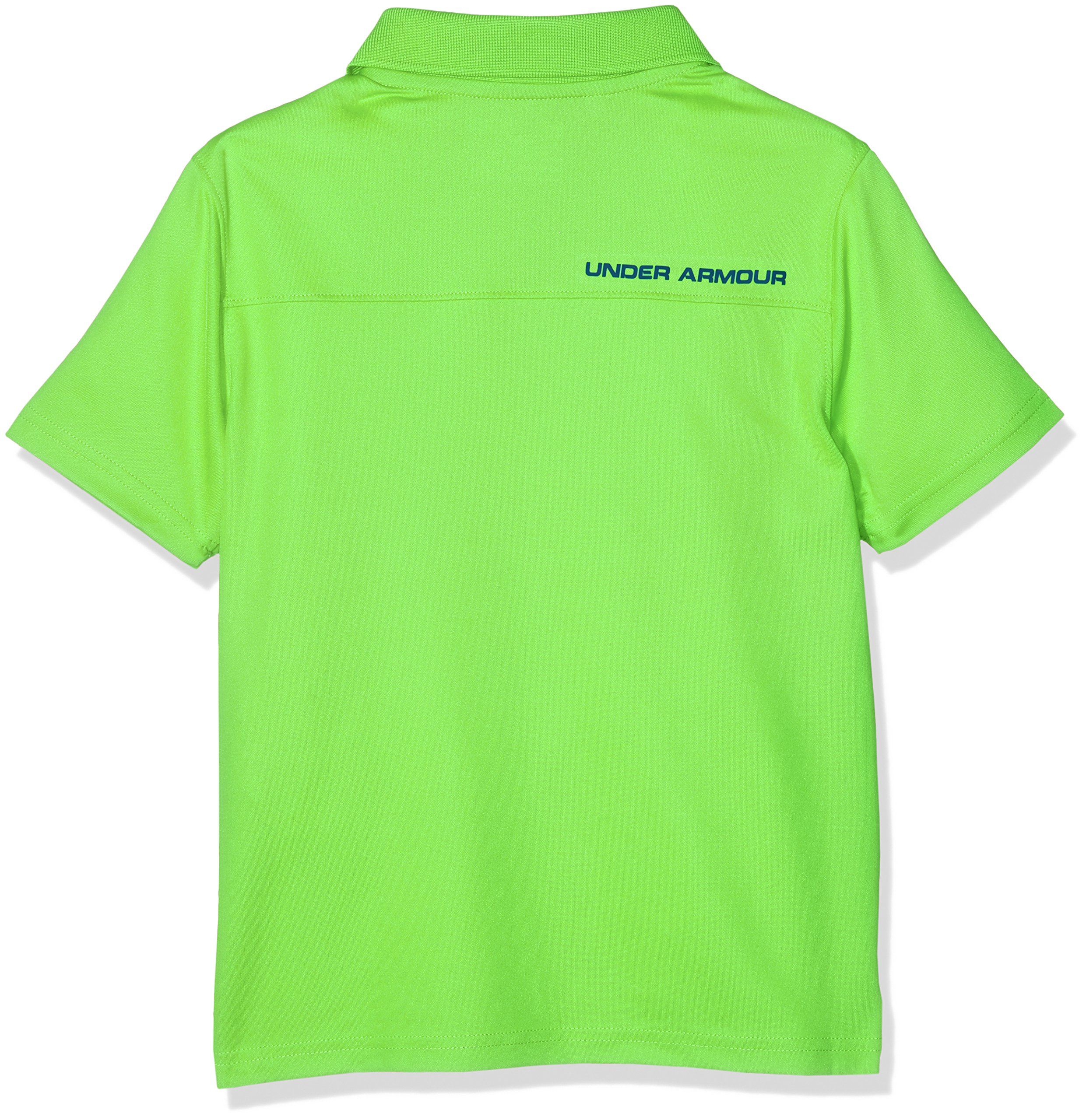 Under Armour Boys' Performance Polo, Poison (327)/Academy, Youth Small by Under Armour (Image #2)