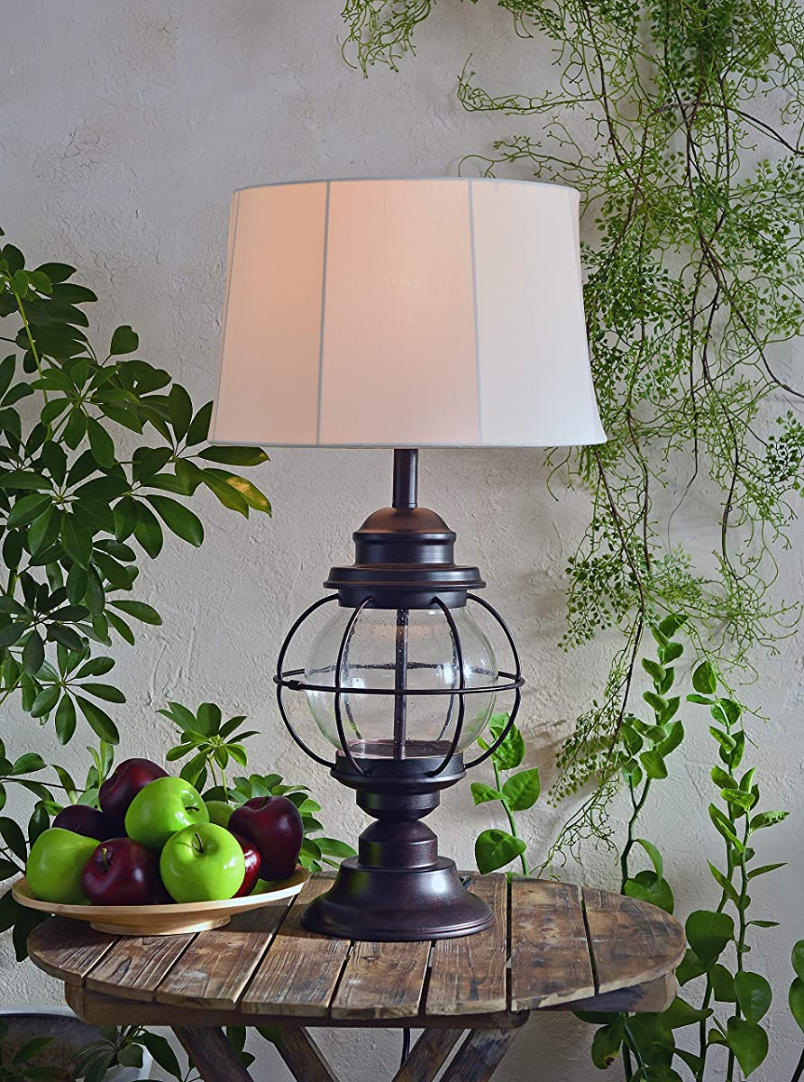 Kenroy Home 037 Hatteras Table Outdoor Lamp, Gilded Copper