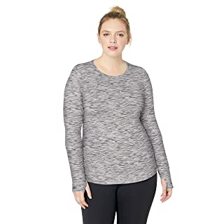 Amazon Brand - Core 10 Women's (XS-3X) Cozy Fitted Workout Long Sleeve