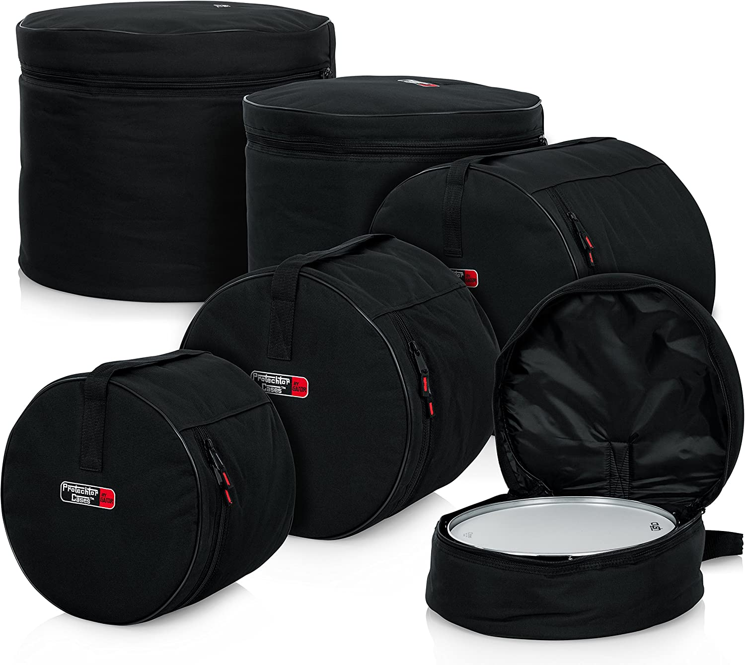 Gator Cases Protechtor Series 5 piece Padded Drum Bag Set for Standard Kits; 22