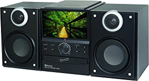 SuperSonic SC-877TV Bluetooth Stereo Speakers: Built-in TV with DVD Player | USB, SD, and AUX inputs