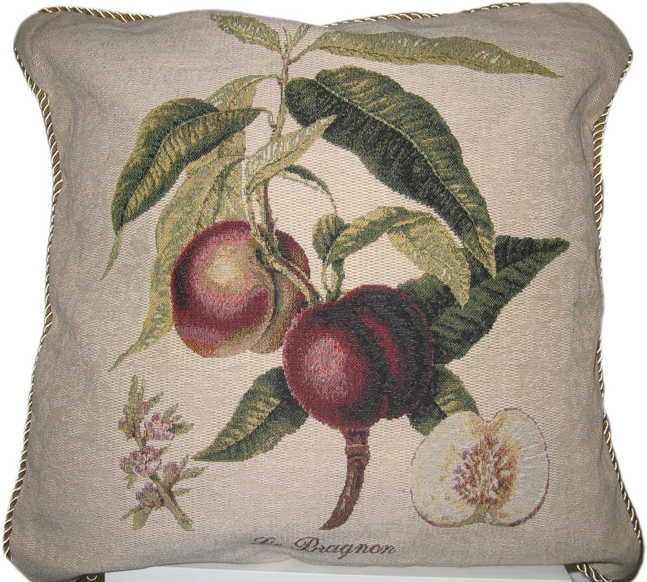 DaDa Bedding Nectarine Woven Decorative Pillow 18 Inches
