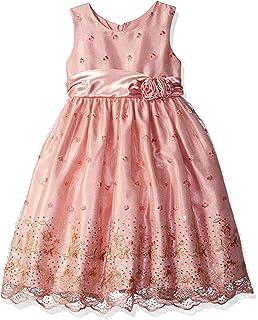 4038813edb Jayne Copeland Girls  Little Embroider Sequins mesh W Side Roses
