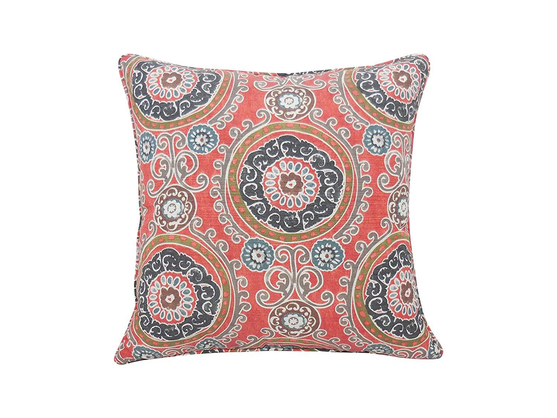 Illuminate Geometric Print Pillow 20x20 Blue E by design PGN727BL37-20 20 x 20-inch