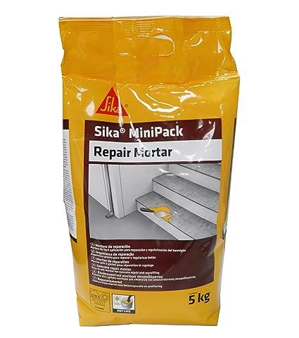 Sika Minipack Mortero de Reparación, Mortero de reparación listo para su uso, 5kg,