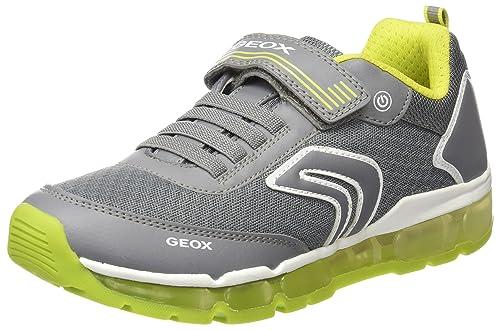 Geox J Android A, Zapatillas para Niños, Gris 34 EU: Amazon.es: Zapatos y complementos