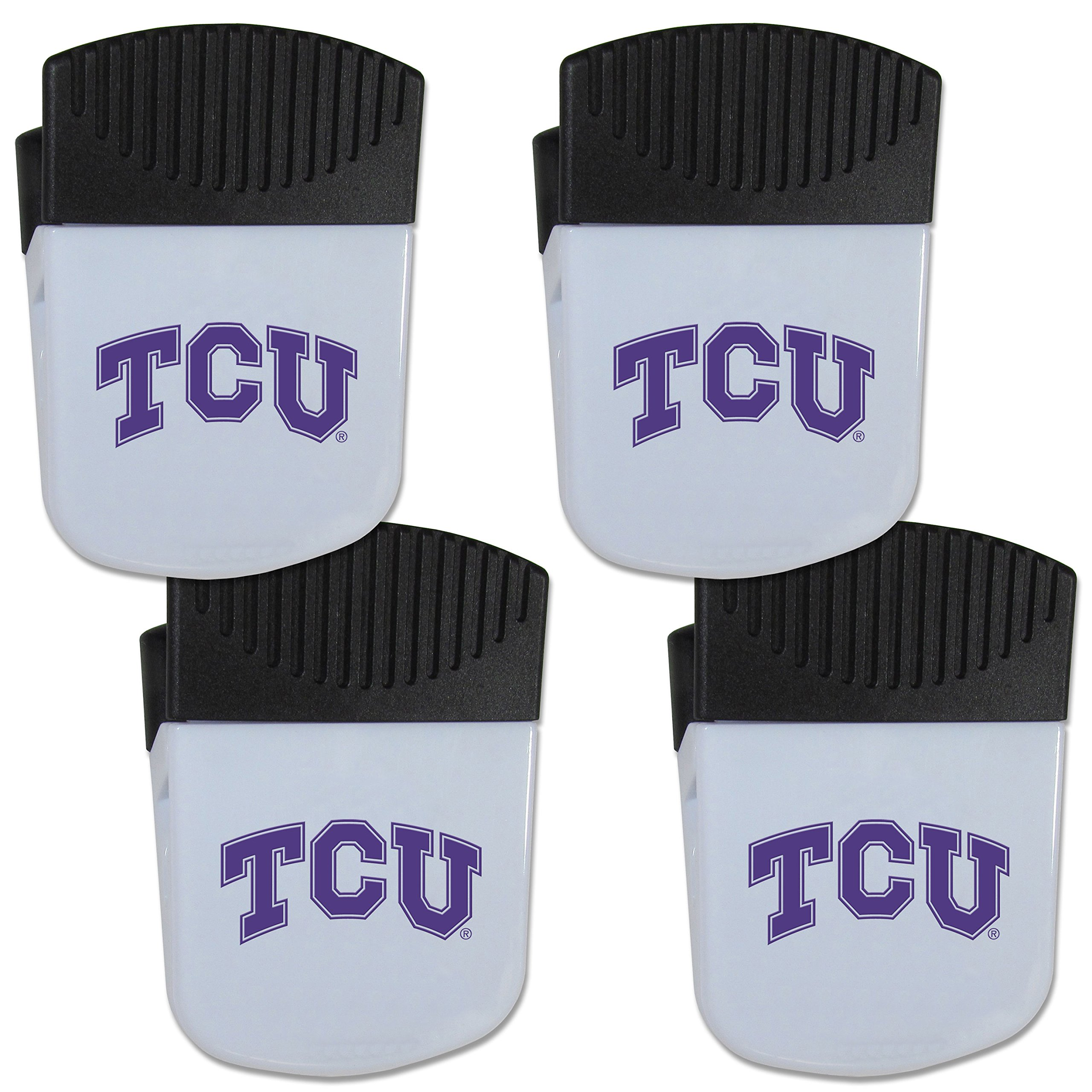 Siskiyou NCAA TCU Horned Frogs Chip Clip Magnet with Bottle Opener, 4 Pack