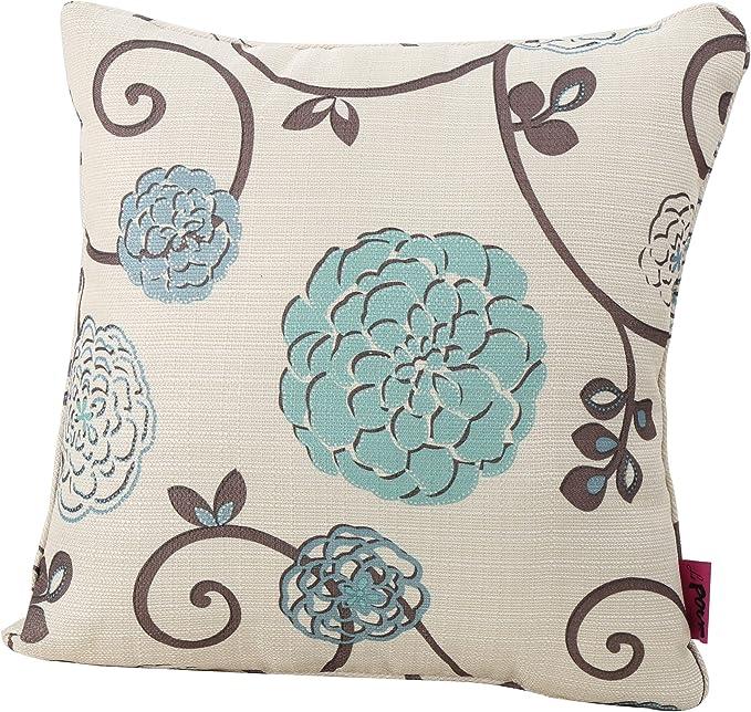Decorative pillow Fabric Pillow Fabric Pillow 24x24 Bohemian Pillow Turkish Pillow Navy Blue Tulip Pattern Fabric Pillow Accent pillow