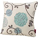 Christopher Knight Home Ippolito Fabric Pillow, White And Blue Floral